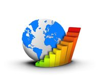 Globe and chart business concept Royalty Free Stock Photography