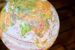 Globe in chinese language. Close-up globe in chinese language Royalty Free Stock Photo