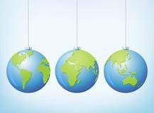 Globe Christmas stock illustration