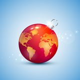 Globe christmas ball Royalty Free Stock Images