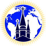Globe church Royalty Free Stock Photography