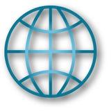 Globe classique avec l'ombre de baisse Photographie stock