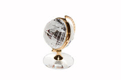Globe clock is made of glass Stock Photography