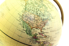 The globe close up, United states past Stock Images
