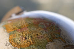 Globe close-up of USA Stock Images
