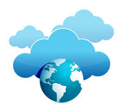Globe cloud computing illustration design Stock Photo