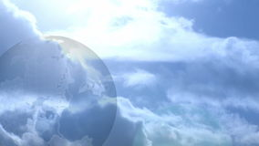 Globe and Clouds stock video footage