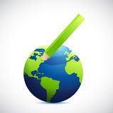 Globe and color pencil illustration design Royalty Free Stock Image