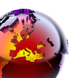 Globe of colored glass Royalty Free Stock Photo