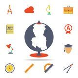 globe colored icon. Detailed set of colored education icons. Premium graphic design. One of the collection icons for websites, web stock illustration