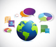 Globe colorful communication illustration design Royalty Free Stock Images