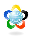 Globe with the colors of the f Royalty Free Stock Image