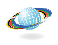 Globe with the colors of the f Stock Photography