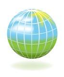 Globe comme horizontal Photographie stock
