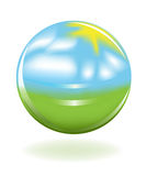 Globe comme horizontal Image libre de droits