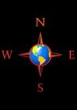 Globe compass Stock Image