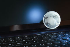 Globe On Computer Stock Image
