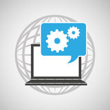 Globe computer gears communication Royalty Free Stock Images