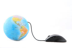 Globe and Computer Mouse Stock Image