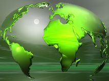 Globe concept. Made in Bryce Stock Photography