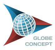 Globe concept. Vector isolated globe design concept Royalty Free Stock Photo