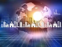 Globe concept for city Stock Photo