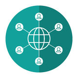 Globe connected community communication shadow Royalty Free Stock Image