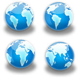 Globe continent. Blue globe (earth) all continents Stock Photos