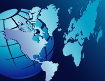 Globe with continents Stock Image