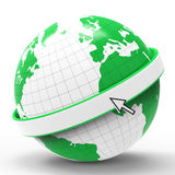 Globe Copyspace Shows Globalize Worldwide And Blank Stock Image