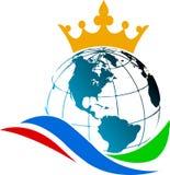 Globe crown Royalty Free Stock Image
