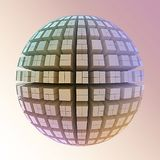 Globe of cubes Royalty Free Stock Photos