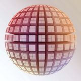 Globe of cubes Royalty Free Stock Photography