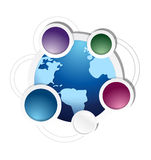 Globe cycle business diagram illustration Stock Images