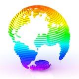 globe découpé en tranches par 3d. Image libre de droits