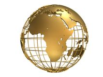 Globe d'or Photographie stock libre de droits