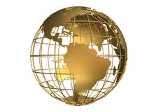 Globe d'or Photo stock