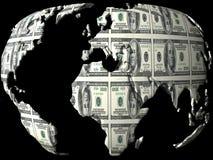Globe d'argent Image libre de droits