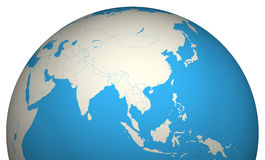 Globe 3D. Asia geographical geography Royalty Free Stock Images