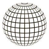 globe 3d avec un méridien et un parallèle de grille du même rang illustration stock