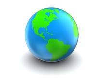 Globe 3d de la terre Photos libres de droits