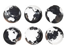 Globe 3D Geopolitical Extruded Royalty Free Stock Images