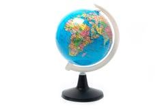 Globe d'isolement sur le blanc Photographie stock libre de droits