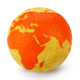 Globe d'orange d'entrain Photo libre de droits