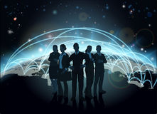 Globe d'équipe d'affaires Image libre de droits