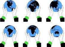 Globe dans des mains illustration stock