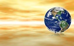 Globe dans l'espace abstrait illustration libre de droits