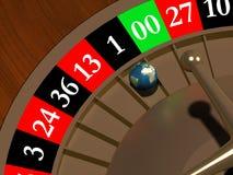 Globe dans la roulette Photos libres de droits