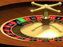Globe dans la roulette Photos stock