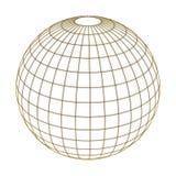 Globe dans le réseau d'or Photo stock